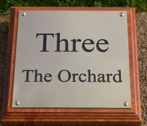 Small 1.5mm Thick Brass Plaque  | The Sign Maker Shop